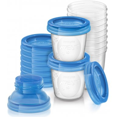 Avent VIA zásobníky na mateřské mléko, 10 ks