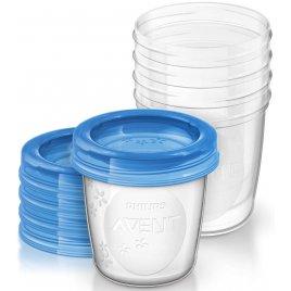 Avent VIA pohárky s víčkem 180 ml, 5 ks