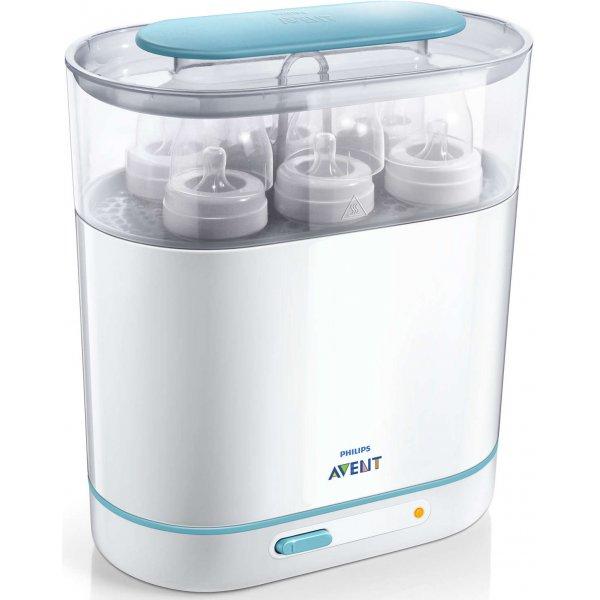 Avent ELEKTRICKÝ parní sterilizátor 3 v 1 Bílá