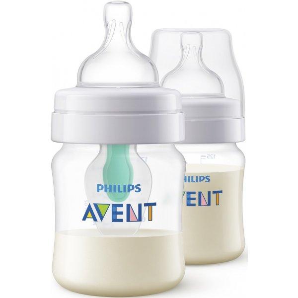Avent Láhev Anti-colic 125 ml s ventilem AirFree, 2 ks Bílá